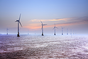 off-shore wind turbines